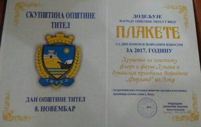 Novembarska nagrada Društvu za zaštitu flore i faune Forland