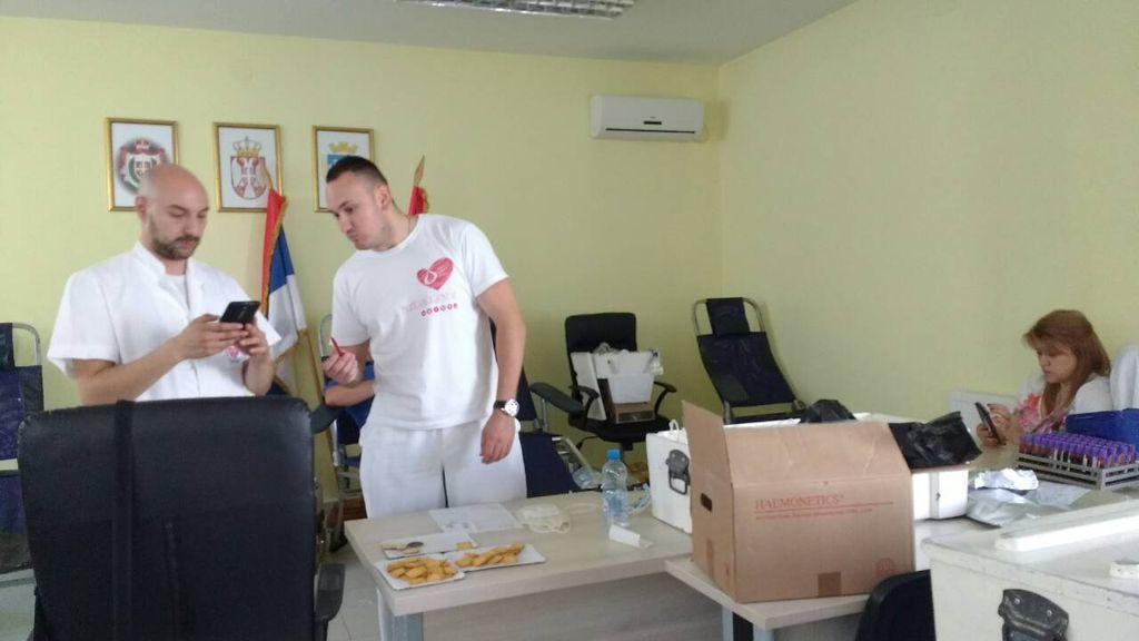 druga akcija dobrovoljnog davanja krvi titel