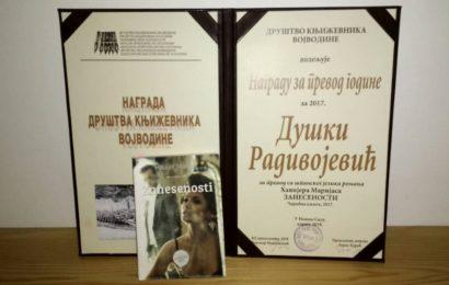 Duška Radivojević dobitnica nagrade za prevod godine