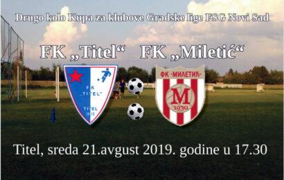 FK Titel sutra dočekuje FK Miletić Mošorin