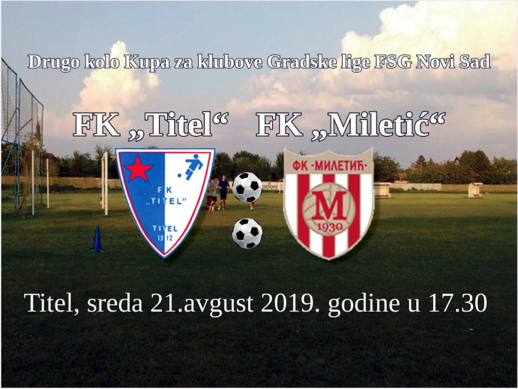 fk titel fk miletic kup 2019